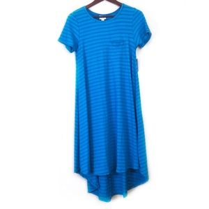 New LulaRoe Carly in Blue Striped Size XS